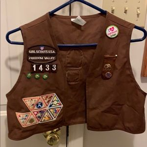 Brownie Vest with Badges and Pins 1999-2000